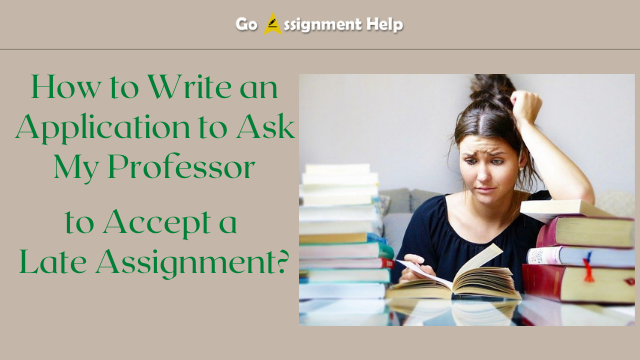 How to Write an Application to Ask My Professor to Accept a Late Assignment?